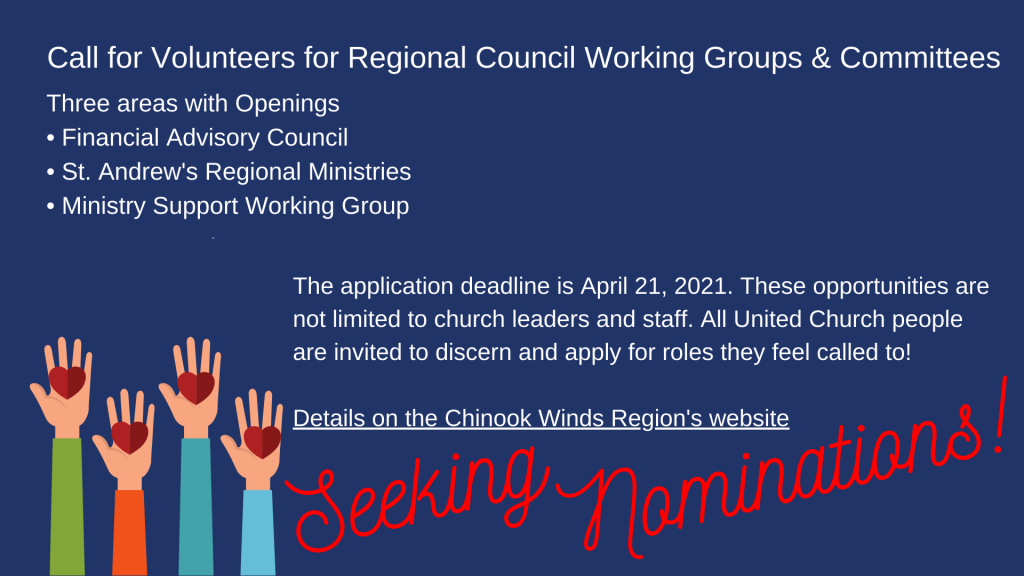 Seeking Nominations for Chinook Winds Region